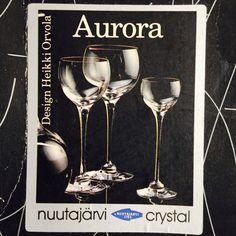 Aurora Design, Glass Boxes, Champagne Glasses, Scandinavian Design, Wine Glass, Crystals, Tableware, Dinnerware, Sparkling Wine Glasses