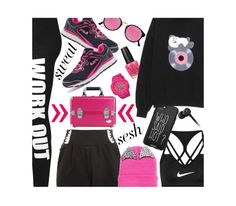 """""""Who said HOT?"""" by dianefantasy ❤ liked on Polyvore featuring NIKE, WearAll, Fila, Topshop, Jacki Design, Baby-G, Beats by Dr. Dre, Casetify, RetroSuperFuture and OPI"""