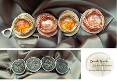 BRACELET CAPSULES NESPRESSO AVEC CABOCHONS : Bracelet par brindevanille