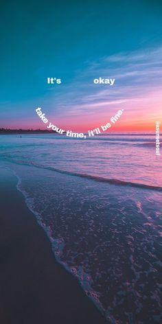 Beach sunset wallpaper motivation