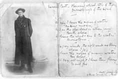 James Joyce carte de visite and poem sent to J. Francis Byrne, 1902