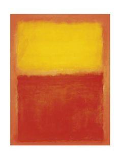 'Orange and Yellow' Art Print - Mark Rothko | Art.com Mark Rothko, Rothko Art, Famous Abstract Artists, Abstract Painters, Yellow Art, Jackson Pollock, Artist Gallery, Andy Warhol, Frames