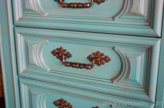 DIY dresser to TV console - Ask Anna Old Village paint and Americas...antique wax.