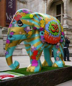 Decorated elephants <3