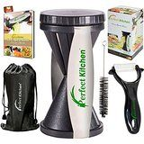 iPerfect Kitchen Vegetable Spiralizer Bundle - Envy Spiral Slicer - Zucchini Spaghetti Pasta Maker @ tinyfit.club.com