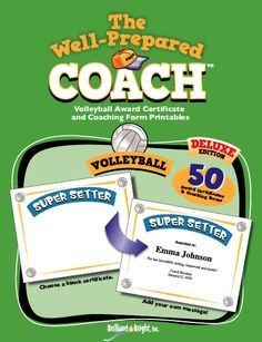 Volleyball Award Certificates and Coaching Form Printables: Add your ...