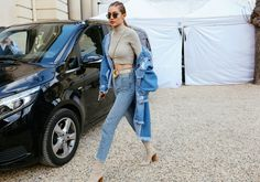 Gigi Hadid in Krewe sunglasses