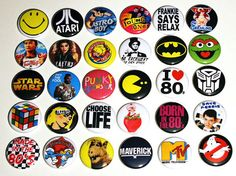 Best of the 80s buttons... I think there are many buttons better than this collection.. But still very cool!