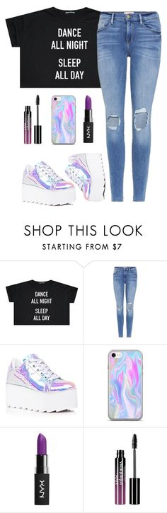 """""""Shut up and dance with me"""" by saragilmartin ❤ liked on Polyvore featuring Frame, Y.R.U., NYX and Charlotte Russe"""