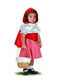 Bring your little one to grandmothers house as Little Red Riding Hood. The Little Red Riding Hood Costume includes a red and white dress with attached belt and a hooded red cape. The depicted b Little Red Riding Hood Fancy Dress, Little Red Riding Hood Halloween Costume, Little Girl Halloween Costumes, Little Girl Dress Up, Red Riding Hood Costume, Girls Dress Up, Toddler Costumes, Baby Costumes, Infant Halloween