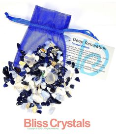 DEEP RELAXATION Agate Crystal Healing Tumbled by BlissCrystals, $7.95