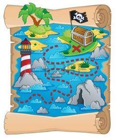 pirate: Carte au trésor thème