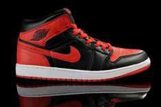White Black Red Nike Air Jordan 1 Shoes