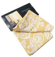 Cynthia Rowley Damask Floral Ikat Scroll 2 Window Curtain Panels 96 White Yellow #Hillcrest #Modern