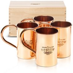 Original Moscow Mule cups.. http://moscowcopper.com/collections/copper-mugs2/products/the-original-moscow-copper-co-100-pure-copper-mule-mug-the-4-pack