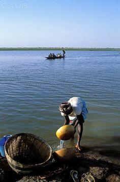Niger river in Segoukoro, Mali