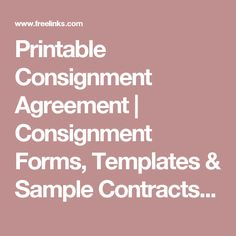 Consignment Agreement Template Word Templates Formats Examples - Free template invoices online thrift store furniture