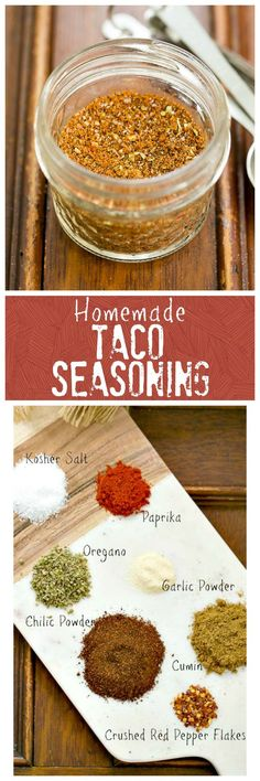 Homemade Taco Seasoning! So much better than store-bought and a shortcut to having a dinner on the table in no time! @lizzydo