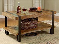 wood top metal coffee table legs