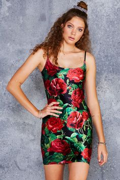 Roses Are Red Velvet Dress - PRESALE ($80AUD) by BlackMilk Clothing