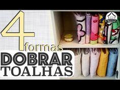 Dobrar toalhas de banho e organizar no armário - YouTube