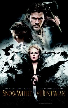 Snow White and the Huntsman. Starring Charlize Theron, Chris Hemsworth and Kristen Stewart