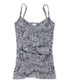 Love this Dark Gray Paisley Camisole by TIMEOUT on #zulily! #zulilyfinds