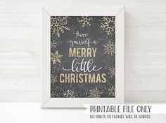 PRINTABLE Christmas Decor Sign Have Yourself A Merry Little #printablechristmascards #printablechristmasgifttags #printablechristmastags #christmasprintables  #printableschristmas  #christmasinvitation  #christmasinvite #christmas  #christmasplanner  #christmasparty   #christmaspartyideas  #ChristmasPrintable  #holidayparty