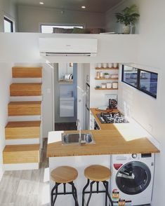 Tiny house on wheels for sale racks up 26000 hits and counting Small Kitchen Ideas counting hits house racks Sale Tiny wheels Tiny House Loft, Best Tiny House, Tiny House Living, Tiny House Plans, Tiny House Design, Tiny House On Wheels, Living Room, Tiny House Office, Tiny House 3 Bedroom