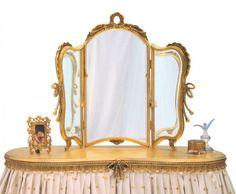 www.carversguild.com  Flounced Vanity Mirror | Carvers' Guild
