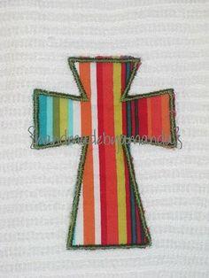 Handmade By Amanda: Cross Applique Towels: Great Teacher's Gifts