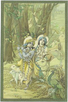 Krishna Lila, Little Krishna, Krishna Hindu, Radha Krishna Images, Krishna Pictures, Hare Krishna, Krishna Drawing, Tanjore Painting, Madhubani Art
