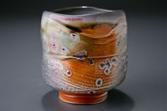 Tom Coleman Teabowl soda fired click now for info. Slab Pottery, Pottery Mugs, Pottery Bowls, Ceramic Pottery, Pottery Art, Pottery Studio, Japanese Ceramics, Japanese Pottery, Pottery Sculpture