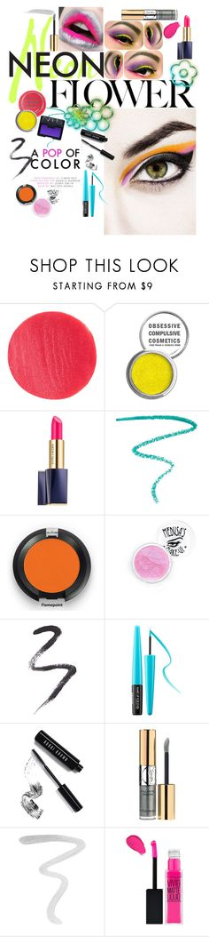 """""""Neon Flower"""" by pheonix-ramirez ❤ liked on Polyvore featuring beauty, Dsquared2, MAC Cosmetics, Lipstick Queen, Obsessive Compulsive Cosmetics, Estée Lauder, Marc Jacobs, NARS Cosmetics, Topshop and MAKE UP FOR EVER"""