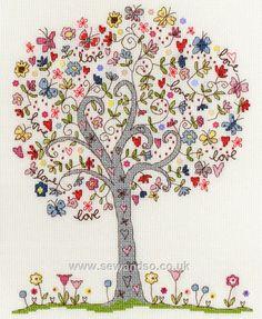 Love Tree cross stitch