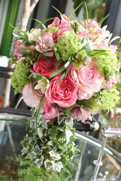 Jardin de illony bouquet in pink and green