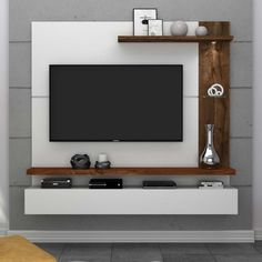 tv wall decor ideas for an efficient and effective tv wall installation process! Furniture Design Modern, Wall Mounted Tv Unit, Tv Wall Design, Modern Furniture Living Room, Tv Room Design, Living Room Tv Unit Designs, Wall Tv Unit Design, Tv Wall Decor, Wall Unit