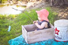 My baby girl fishing. 6 month old pictures