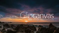Dramatic sea sunset on rock shore with waves HD Stock Footage Clip. Long shot. 2016-01-30, THAILAND.