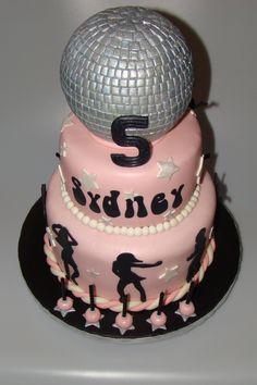 Disco/Dance Party cake