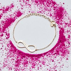 personalised infinity bracelet by merci maman | notonthehighstreet.com