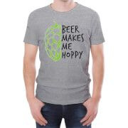 "#Beershield Beer Makes Me Hoppy Mens T-Shirt - L - Grey #This light hearted T-shirt is the perfect gift for any beer fan. Crafted from a Cotton mix this regular fit T-Shirt has a stylised beer themed print on the front, a crew neck and short sleeves. Perfect for any dedicated hop fan! Features: T-Shirts are 90% Cotton "" 10% Polyester Ethically Sourced Slim fit - if that™s not your thing, order a size up"