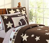 Star football bedding. For Johnny & Dylan's room.