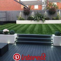 40 Fabulous Modern Garden Designs Ideas For Front Yard and Backyard Back Garden Landscaping, Backyard Patio Designs, Landscaping Ideas, Modern Landscaping, Garden Decking Ideas, Backyard Garden Ideas, Garden Fences, Garden Signs, Backyard Projects