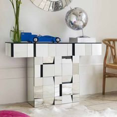 Mirrored Console Table and Coffee Table Designs, Stretching Small Spaces