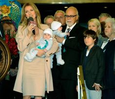 Celine Dion, hubby Renee, sons Renee Charles, Nelson and Eddy