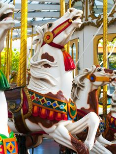 Carousel Horses at Yerba Buena Center for the Arts Photographic Print at AllPosters.com