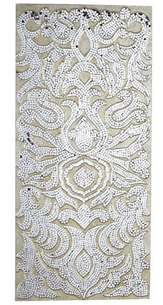 Pier One Mirrored Damask Panel Champagne