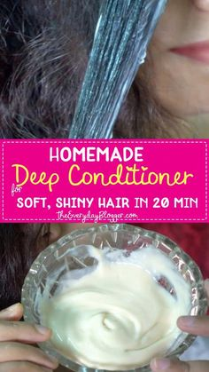 Homemade Deep Conditioner, Deep Conditioner For Natural Hair, Diy Conditioner, Homemade Shampoo, Dry Frizzy Hair, Hair Mask For Damaged Hair, Mayo Hair Mask, Diy Hair Mask For Dry Hair, Tips For Dry Hair