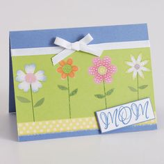 Flower Garden Card for Mother's Day!  My girls would love to make something like this!